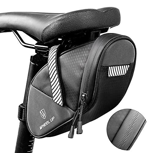 Bolsa para Sillín de Bicicleta Bolsa para Bicicleta de Montaña Bolsa para Bicicleta Trasera Resistente al Agua Paquete de Cuña Impermeable para Bicicletas (1.9L)