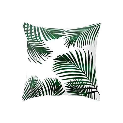 YUNSW Funda De Almohada Abrazo Verde 45X45, Funda De Almohada Abrazo De La Serie De Hojas De Plantas, Adecuada para El Sofá del Coche del Jardín De La Sala De Estar De La Oficina