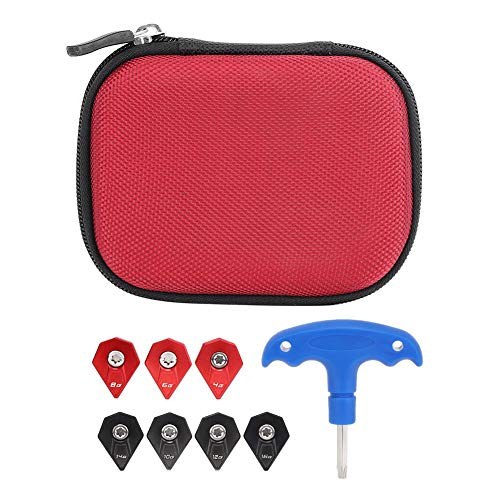 Golf Club Wrech£« 7 Weight Screws Portable Quality Golf Clubs Head Wrench Accessory with Storage Case Golf Weight Set Case Tool