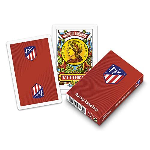 Fournier (1044179 - Mazzo Spagnolo Ufficiale dell'Atletico de Madrid, 40 Carte, Colore Materasso