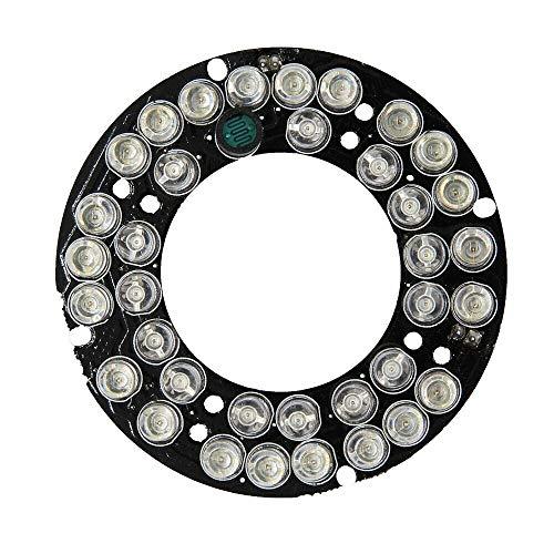 MING-MCZ Duradero 36 * Junta LED IR for 60mm CCTV cámara de visión Nocturna for 3pcs Junta CS len luz infrarroja de 12V CC Fácil de Montar