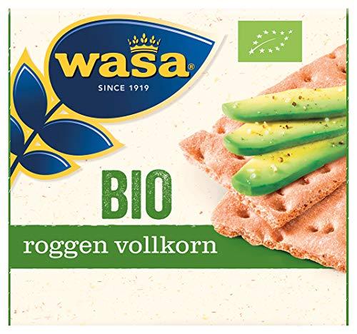 Wasa Knäckebrot Bio Roggen Vollkorn, 12er Pack (12 x 180g)