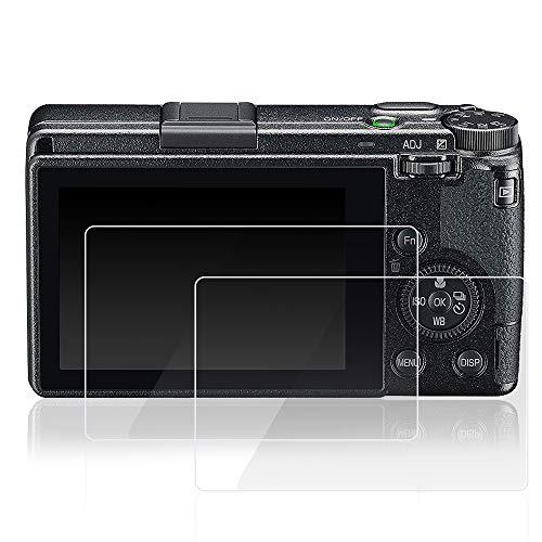AFUNTA 2 Stück Displayschutzfolie kompatibel mit GR III Digitalkamera, gehärtetes Glas, hohe Transparenz, kratzfeste Schutzfolien