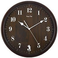 セイコー クロック 掛け時計 ミッキーマウス アナログ ミッキー&フレンズ Disney Time ディズニータイム 濃茶 FW577B SEIKO
