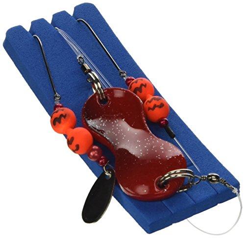 Zebco Flatty Teaser Buttlöffel Rig -fertig montiert, Gewicht:40g;Farbe:Rot