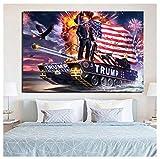 MGSHN Donalds Trumps Malerei Streitwagen Angriffe Syrien