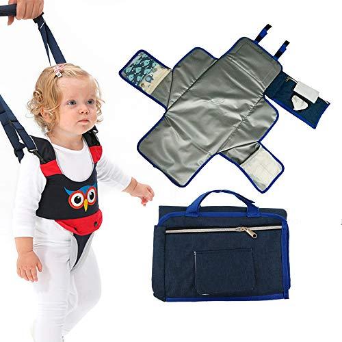 Baby Walker Assistant Toddler Walking Harness Adjustable & Changing Pad