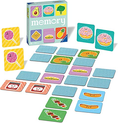 Ravensburger 20612 - Funny Food Memory, der Spieleklassiker für alle Essens-Fans, Merkspiel für 2-6 Spieler ab 3 Jahren