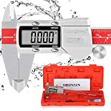 Absolute Origin Digital Caliper, SHONSIN 0-6'/150mm Digital Electronic Caliper, Durable Stainless Steel Micrometer Caliper Measuring Tool Slide Very Smooth, IP54 Protection, High Accuracy
