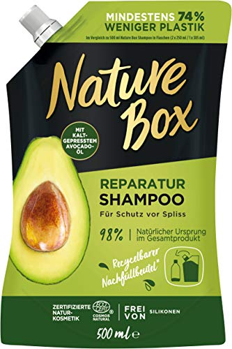 Nature Box Reparatur Shampoo Avocado-Öl Nachfüllbeutel, 500 ml