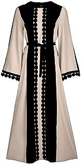 zhbotaolang Women Dresses Skirt Party Gowns Long Sleeve Robe Muslim Prayer Clothes