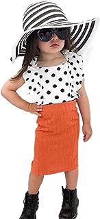 Kids Toddler Baby Girls Solid Knitted Modest Pencil Skirt Knee Length