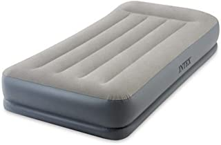 Intex Pillow Rest Mid-Rise Twin Size Airbed With Built-In Electric Pump, 64116