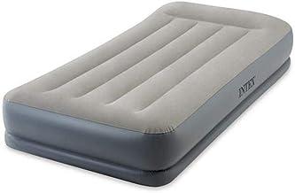 سرير هوائي ريست بوسادة 64116 مقاس توين متوسط الارتفاع مع مضخة كهربائية مدمجة من انتكس