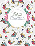 ADULT COLORING BOOK BIRDS COLLECTION: Birds Coloring Book Stress Relieving Designs, 40 Amazing Patterns: One Side Coloring Book For Adults Relaxation & Stress Relief
