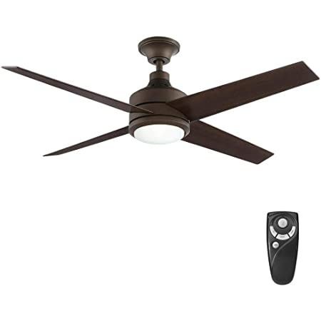 Home Decorators Collection Mercer 52 In Integrated Led Indoor Oil Rubbed Bronze Ceiling Fan With Light Kit And Remote Control Amazon Com