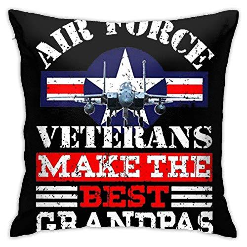 pingshang US-Air - Veteranen Machen die besten Opas Pilloase Baumwolle Polyester Kissenbezug Pilloase Sofa Home Decoration 45 x 45 cm