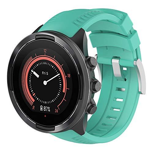 Gusspower Correa de Silicona de Pulsera Repuesto para Suunto 9 Baro Smart Watch Sport (Verde)