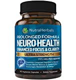 Brain Booster Supplement -'90 Day Supply'- Nootropics Support Mental Clarity, Memory & Focus. Scientifically Formulated for Prolonged Performance - DMAE, Bacopa Monnieri, Rhodiola Rosea.