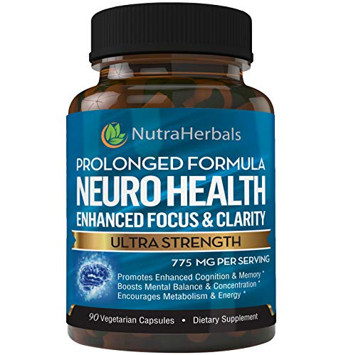"Brain Booster Supplement -""90 Day Supply""- Nootropics Support Mental Clarity, Memory & Focus. Scientifically Formulated for Prolonged Performance - DMAE, Bacopa Monnieri, Rhodiola Rosea."