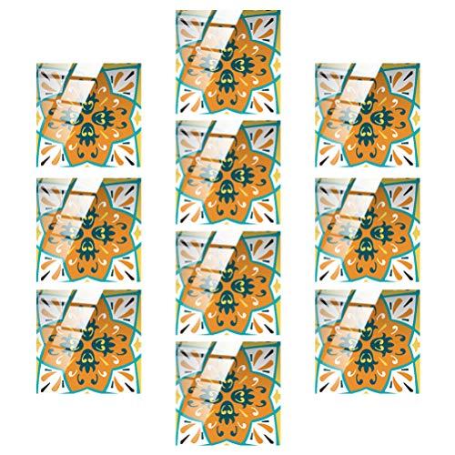 GARNECK 10Pcs Pelar Y Pegar Azulejos Pegatinas de Azulejos de Flores Pegar en El Fondo de Pantalla de La Cocina Backsplash para La Oficina Baño Dormitorio Cocina Backsplash Decoraciones