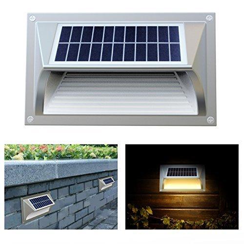 Frostfire - Lampada Solare a Muro con Illuminazione a Fase (Step Light)