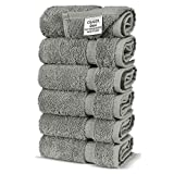 Chakir Turkish Linens Turkish Cotton Luxury Hotel & Spa Bath Towel, Hand Towel - Set of 6, Gray