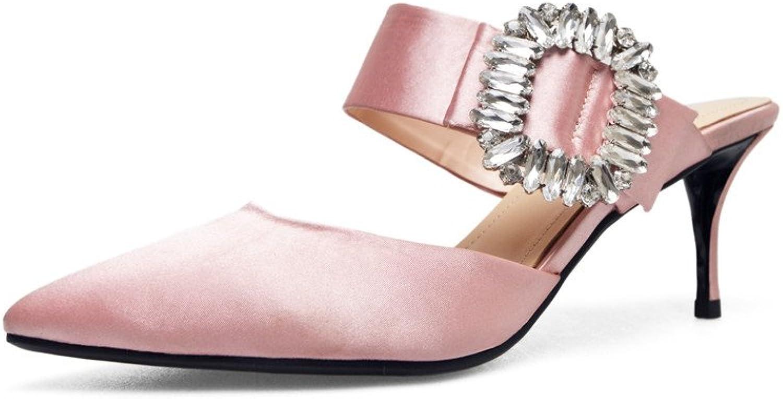 CCBubble Kitten klackar klackar klackar Satin kvinnor Sandals 2018 sommar skor kvinnor  billig