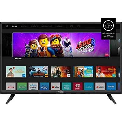 Vizio D-Seires 32inch Class 720p HD Full-Array LED Smart TV with Chromecast Built-in and SmartCast (Renewed) from Vizio