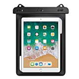 MoKo Waterproof Tablet Case, Tablet Pouch Dry Bag for New iPad 9.7 2018/2017, iPad Pro 9.7, iPad Air 2, iPad 4/3/2, Samasung Tab S4/ S3/ S2/Tab A 9.7, Galaxy Note 8, Tab E 9.6 Up to 10.2 Inch, Black