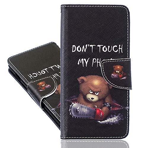 IMEIKONST Funda para Nokia 1.4, piel sintética de alta calidad, duradera, ligera, con tapa, magnética, compatible con Nokia 1.4, Saw Bear BBK