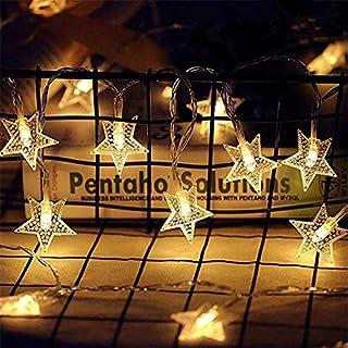 Star String Lights 9.8 Feet 20 LED Christmas Twinkle Fairy Lights Battery Models 2 Lighting Modes for Christmas / Bedroom ...