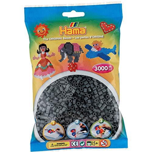 Hama 207-71 Bügelperlen Beutel 1000x, dunkelgrau
