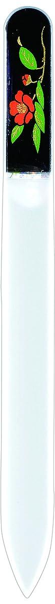 ガード効果的に修復橋本漆芸 ブラジェク製高級爪ヤスリ 十二月 椿 紙箱