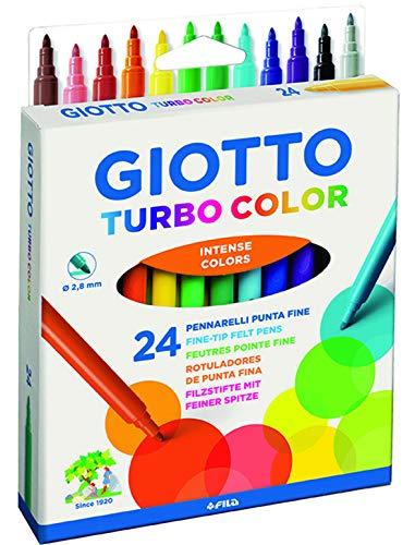 4170 00 - Paquete 24 rotuladores Giotto Turbo Color, Multico