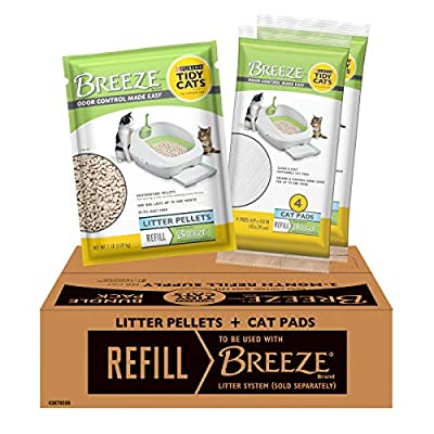 Purina Tidy Cats BREEZE With Ammonia Blocker Pads & Pellets Bundle Pack by NF7TG