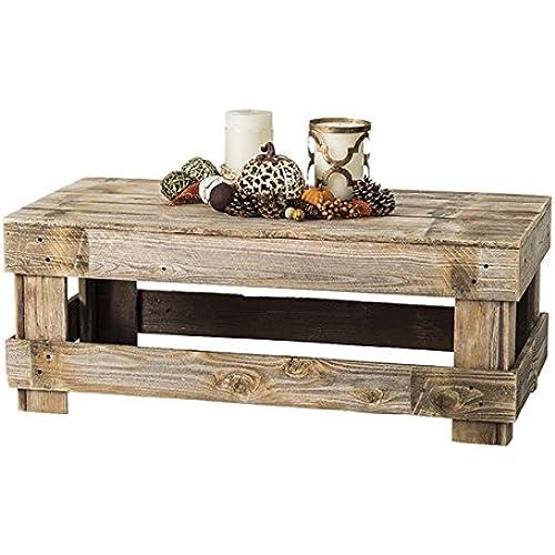 Amazon Com Natural Reclaimed Barnwood Rustic Farmhouse Coffee Table Usa Handmade Country Living Decor Distressed Natural Furniture Decor