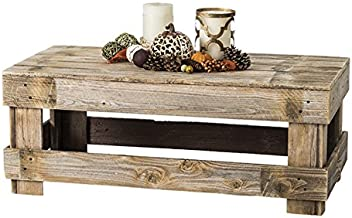 Del Hutson Designs - Rustic Barnwood Coffee Table, USA Handmade Reclaimed Wood (Natural)
