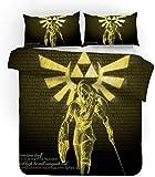 POMJK Zelda - Juego de cama (1 funda nórdica y 2 fundas de almohada), diseño de Anime