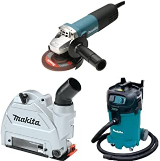 Makita 9564CV 4-1/2-Inch Angle Grinder with Makita 196846-1 Dust Extracting Tuck Point Guard, 5
