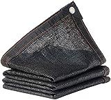 MWXFYWW Paño de Sombra Negro, 23 tamaños, tasa de sombreado del 90% Utilizado para el balcón Exterior en la Parte Superior del Edificio, Red de protección Solar de tamaño Personalizado