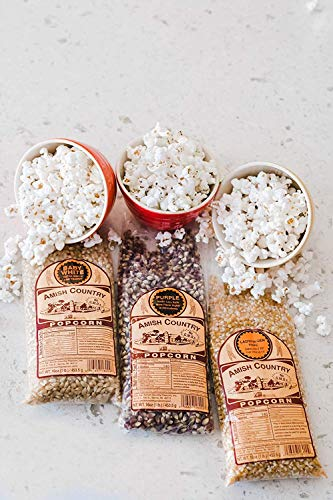 Product Image 2: Amish Country Popcorn | 3 – 1 lb Bags | 1 lb Baby White, 1 lb Ladyfinger, and 1 lb Purple Popcorn Kernels Variety Pack | Old Fashioned with Recipe Guide (3 – 1 lb Bags)