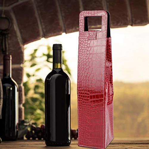 Shipenophy Bolsas de Regalo de Licor La Bolsa de Asas de Vino Resuable para Navidad para Cerveza(Red Crocodile)