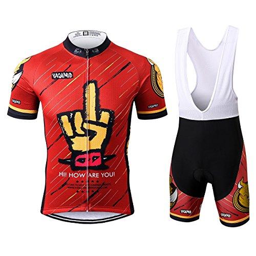 Thriller Rider Sports Uomo Funny Red Sport e Tempo Libero Abbigliamento Ciclismo Magliette Manica Corta e Pantaloncini Cinturino Combinazione Large