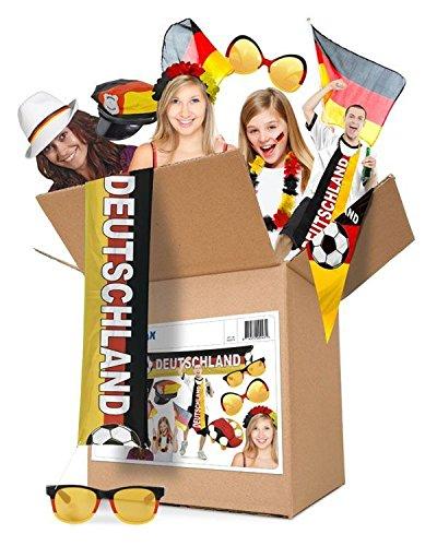 Folat 243 - Partypaket Deutschland Fußball, Dekoration und Fan-Artikel zur Weltmeisterschaft WM 2018