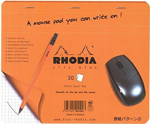 ロディアクリックブロックマウスパッド方眼罫cf194100