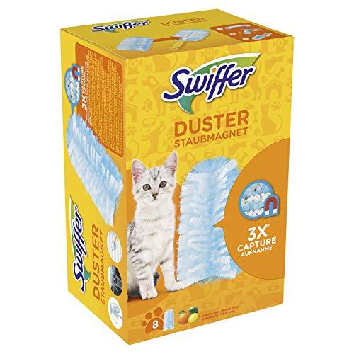 Swiffer Staubmagnet Tücher für Tierbesitzer Nachfüllpackung, 8 Stück