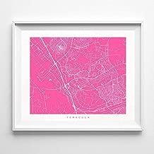 Temecula California Street Road Map Home Decor Poster Urban City Hometown Wall Art Print - 70 Color Options - Unframed