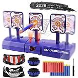 RenFox Electronic Moving Shooting Target Scoring Auto Reset Digital Targets for Nerf Guns Toys, Ideal Gift Toy for Kids-Boys & Girls (2020 Version)