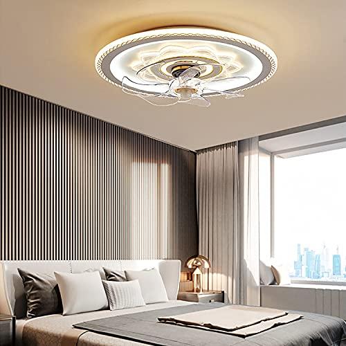 WRQING Schlafzimmer Deckenventilator mit Beleuchtung, Fernbedienung Leise Moderne Led Deckenventilator mit Licht 3 Geschwindigkeiten Wohnzimmer Ventilator Deckenleuchte (Color : Gold)